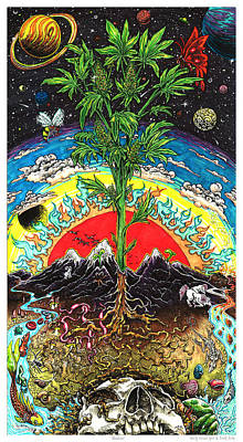 Ganja Mixed Media - Abundance by Franki Zinke