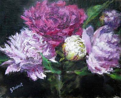 Peonies Painting - Abundance by Jill Brabant