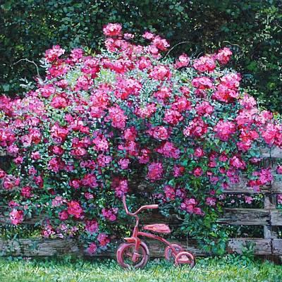 Tricycle Painting - Abundance by Kim Karelson