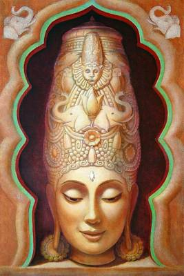 Hindu Goddess Painting - Abundance Meditation by Sue Halstenberg