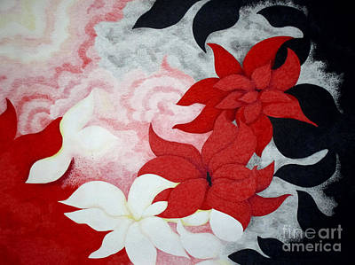 Abstract Flowers Drawings - Abundance of Good by Kathleen Allen