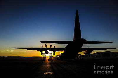 Ac Painting - Ac-130u Spooky Gunship Airmen by Celestial Images