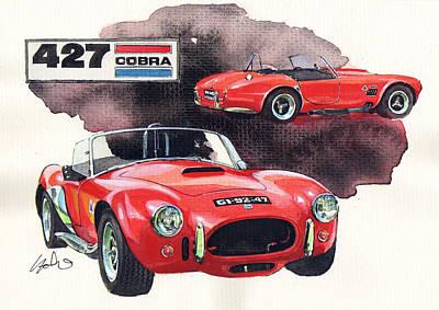 Cobra Painting - Ac Cobra 427 by Yoshiharu Miyakawa