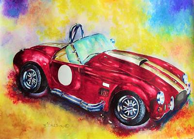 Shelby Artwork Painting - A.c. Cobra by Anne Dalton