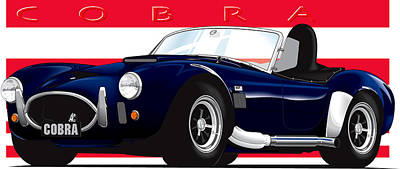Ac Cobra Art Print by Brian Gibbs