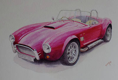 Cobra Mixed Media - Ac Cobra_red by David Godbolt