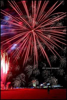Ac Fireworks Art Print