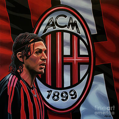 Ac Milan Painting Original