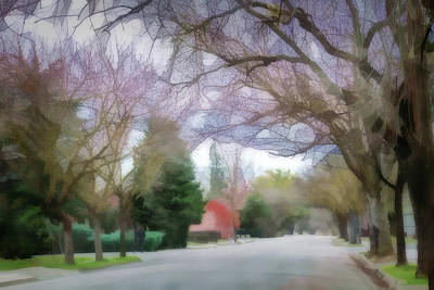 Asphalt Digital Art - Acacia Street 1 by Terry Davis