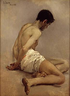 Painting - Academic Study From Life by Joaquin Sorolla