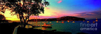 Art Print featuring the photograph  Acadia Bar Harbor Sunset Cruises by Tom Jelen