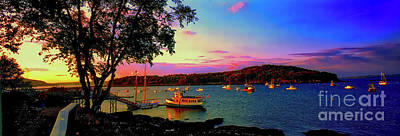 Photograph -  Acadia Bar Harbor Sunset Cruises.tif by Tom Jelen
