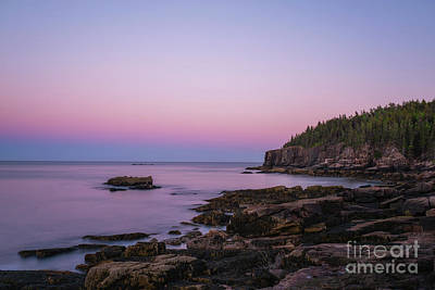 Photograph - Acadia Coastline At Dusk  by Michael Ver Sprill