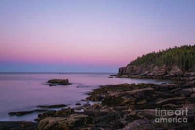 Keith Richards - Acadia Coastline at Dusk  by Michael Ver Sprill