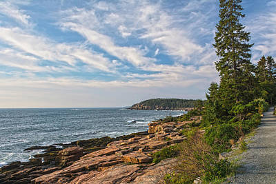 Photograph - Acadia Coastline In Early Morning Light by Angelo Marcialis