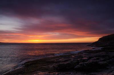 Atlantic Ocean Photograph - Acadia Dawn by Benjamin DeHaven