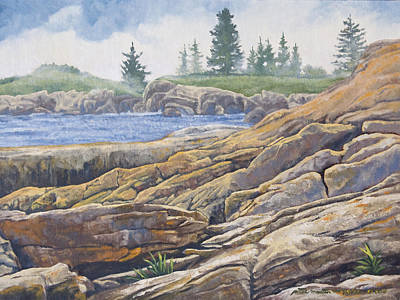 Peter Muzyka Wall Art - Painting - Acadia Morning by Peter Muzyka