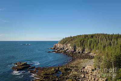 Photograph - Acadia National Park Aerial View by Michael Ver Sprill