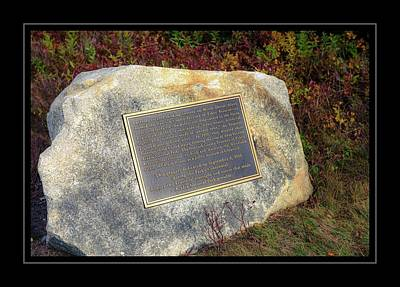 Photograph - Acadia National Park Centennial Plaque by Sherman Perry