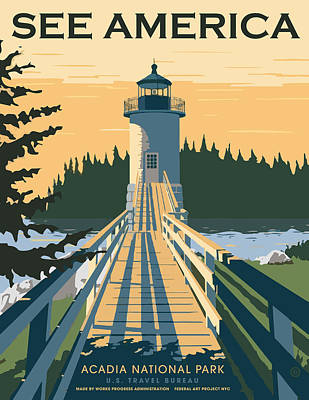 Painting - Acadia National Park by Gary Grayson