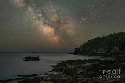 Photograph - Acadia National Park Milky Way  by Michael Ver Sprill