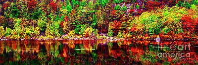 Photograph - Acadia  National Park Somes Sound Fall Maine 302040118 by Tom Jelen