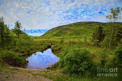 Digital Art - Acadia Pond by Rick Bragan
