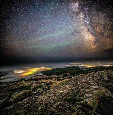 Photograph - Acadia Stars And Fog by Brent L Ander