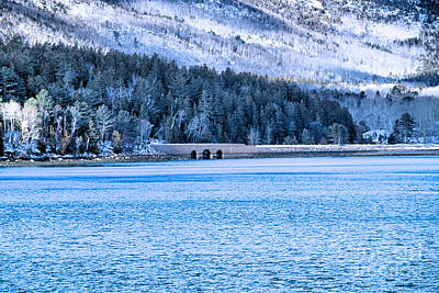Snowy Mountain Loop Photograph - Acadia Winter by Elizabeth Dow