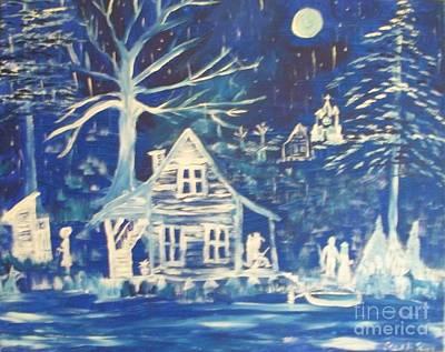 Acadian Painting - Acadian Blue Willow by Seaux-N-Seau Soileau