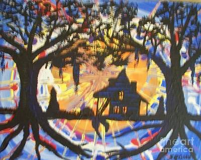 Back Porch Painting - Acadian Homestead by Seaux-N-Seau Soileau