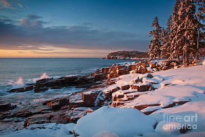 Maine Mountains Photograph - Acadian Winter by Susan Cole Kelly