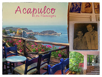 Photograph - Acapulco Los Flamingos Vintage Poster by Tatiana Travelways