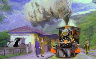 Townscape Digital Art - Acarau Steam Train Station by Caito Junqueira
