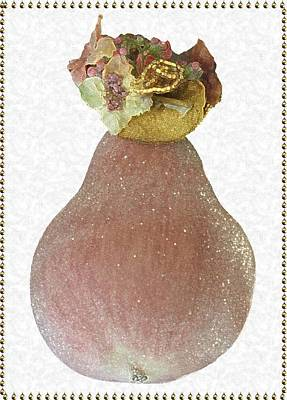 Photograph - Accented Glittery Pear by Ellen Barron O'Reilly