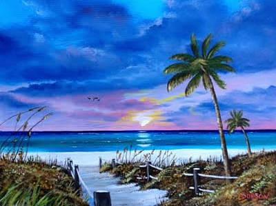 Access To The Beach Art Print by Lloyd Dobson