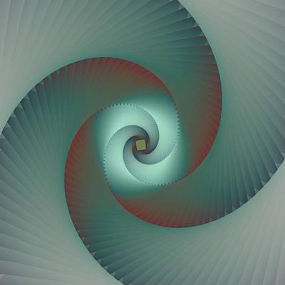 Abstract Digital Digital Art - Accordion 5 by Vicky Brago-Mitchell