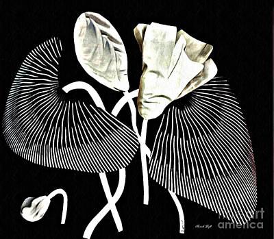 Mixed Media - Accordion Leaf Flowers by Sarah Loft
