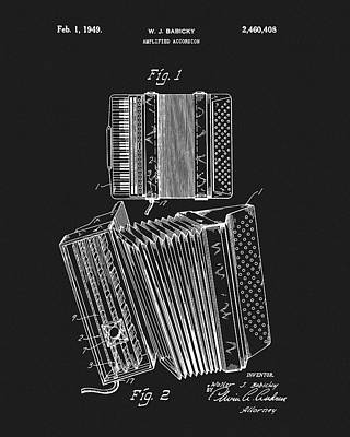Drawing - Accordion Patent by Dan Sproul