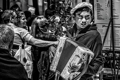 Photograph - Accordion Player by Patrick Boening