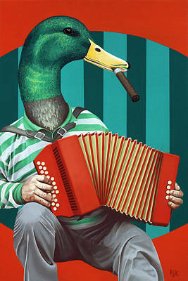 Accordion To This Art Print by Kelly Jade King