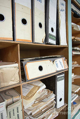 Photograph - Account Books In An Old Office by Edward Fielding
