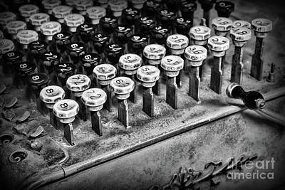 Auditors Wall Art - Photograph - Accountant - The Adding Machine In Black And White by Paul Ward