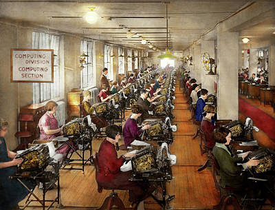 Typewriter Photograph - Accountant - The Enumeration Division 1924 by Mike Savad