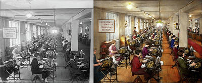 Photograph - Accountant - The Enumeration Division 1924 - Side By Side by Mike Savad