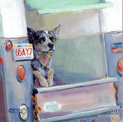 Herding Dog Painting - Acd Delivery Boy by Kimberly Santini