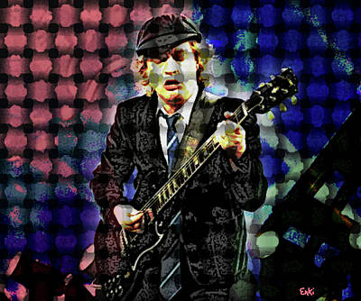 Def Leppard Mixed Media - Acdc S Angus Young by Enki Art