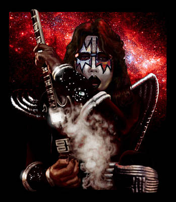 Ace Frehley Red Solo Space Art Print by Paul Long