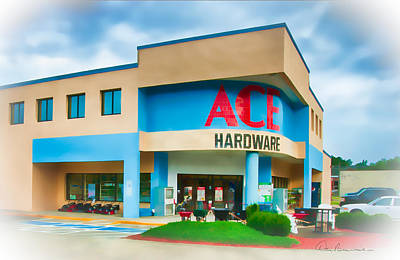 Dan Beauvais Royalty-Free and Rights-Managed Images - Ace Hardware Manteo 6851 by Dan Beauvais