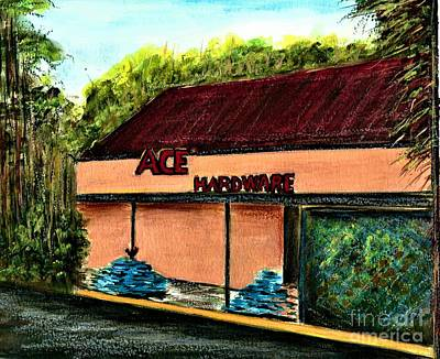 Painting - Ace Hardware Oviedo Florida  by Allison Constantino
